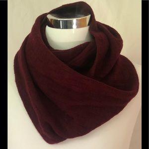 Cole Haan Burgundy Wool Infinity Scarf